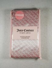 "Brand New Juicy Couture Standard Size Satin Pillowcases - 20"" x 30"" Polyester"