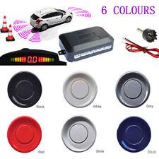Car Rear Reversing Reverse Parking LED Displayer 4 Sensor Kit Audio Alarm UK #1