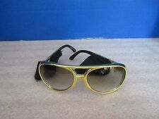 1970's GOLD RIMMED GLASSES / SUNGLASSES w/ SIDEBURNS~Halloween Costume Accessory