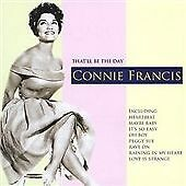 That'll Be the Day, Francis, Connie, Very Good CD
