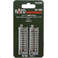 Kato 20-045 Rail Conversion / Snap Conversion Track 62mm 2pcs - N