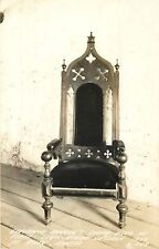 Ft Riley Kansas~RPPC Plush Chair Used by Governor Reeder in Legislature~1940s pc