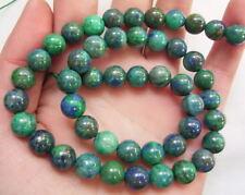 8SE07553a8mm Azurite Malachite Round Beads 15.5''