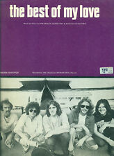 "THE EAGLES ""THE BEST OF MY LOVE"" PIANO/VOCAL/GUITAR SHEET MUSIC RARE-NEW-ON SALE"