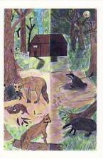 L164.  Bevere Vivis Postcard. Wild Life Reserve.Worcester. By Annika Franklin.