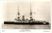 HMS Illustrious RPPC postcard real photograph Royal Navy military antique
