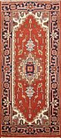 2x4 Geometric Indo Heriz Oriental Hand-knotted Area Rug Wool Traditional Carpet