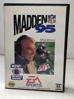 Madden NFL 95 (Sega Genesis, 1994) Box, Manual And Game - Complete