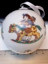 Original Hutschenreuther porcelana bala navidad 1986 con juguetes caballo, entre otros,