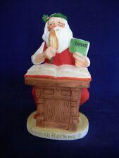 Vintage Norman Rockwell Yuletide Reckoning Santa Christmas Figurine Gorham 1981
