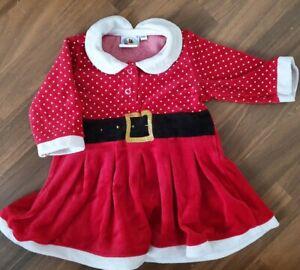 🌸 Weihnachtskleid 🌸 Baby Mädchen Gr. 68 🌸 2x getragen 🌸 neuwertig