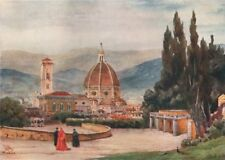 FIRENZE. 'The Duomo, Florence, from Boboli Gardens'. William Wiehe Collins 1911
