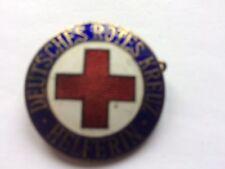 BADGE BROOCH GERMAN WW1/2 - DEUTSCHES ROTES KREUZ HELFERIN - ENAMELLED