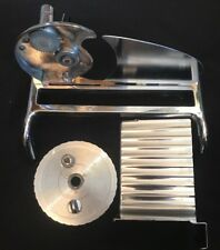 Vintage Rival Food Slicer Meat Cheese Manual Hand Crank with Lock - Chrome
