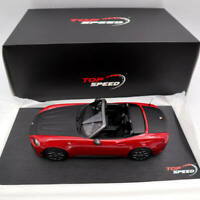 TOP Speed Abarth 124 Spider Costa Brava 1972 Red TS0078 1/18 Limited Edition