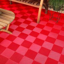 DECK AND PATIO FLOOR TILES RED | Made In The USA |FREE SHIPPING