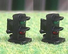 Pack of 2 OO Gauge Green / Red 3mm LED Dwarf Signals 12 Volt