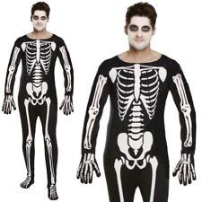 Adult Mens Day of the Dead Skeleton Reaper Halloween Fancy Dress Costume