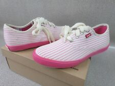 Levi's Carsten Pink Pinstriped Athletic Canvas Sneakers Shoes - Women's Size 7
