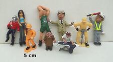 lot de personnages pour vitrine, maquette ou jouet, anciens, plastique   S7