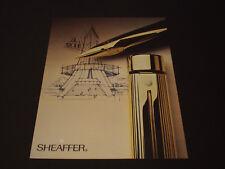 Sheaffer  Années 1985's - 1990's  Advertising Vintage AD Pub Paper 1980 - 1990