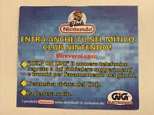 1991 Club Nintendo SNES NES Game Boy Postkarte Anmeldekarte Werbung ITA