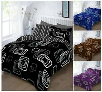 Luxury BLAKE Printed Reversable Duvet Quilt Cover + Pillow Case Bed Set All Size