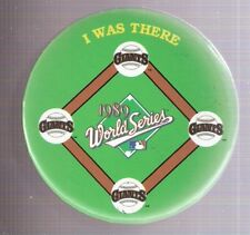 "San Francisco Giants 1989 World Series ""I Was There"" 3-Inch Pinback Button"