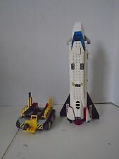 Lego Vintage Space Pieces Lot Shuttle Cart Launch Pad Rocket Ship Minifigure