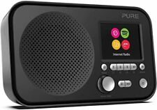 PURE ELAN IR3 PORTABLE DAB WIFI INTERNET RADIO LCD DISPLAY SPOTIFY CONNECT BLACK