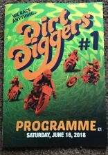 2018 DIRT DIGGERS CHAMPIONSHIP 16th JUNE @ SCUNTHORPE   ( EXCELLENT CONDITION )
