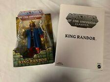 MOTU MASTERS OF THE UNIVERSE CLASSICS KING RANDOR MOC W/MAILER BOX MOTUC