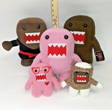 Domo Kun Plush Lot of 5 Ninja Pink Brown Valentine's Nerd Glasses & Sock Monkey
