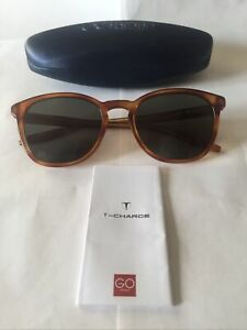 T-Charge T9051 Mens Sunglasses Colour G22 L/Havana with Green Polarized Lenses