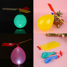 Outdoor Balloon Flying Helicopter Whistle Copter Flight Aircraft Classic Toy Kid
