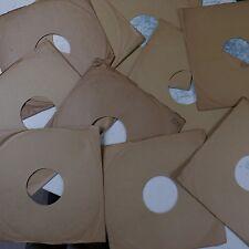 """20x 10"""" 78 Rpm gramófono registro mangas, PLAIN BROWN papel, Auténtico Vintage"""