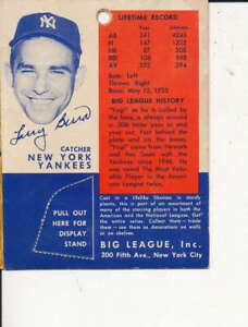 1956 Yogi Berra new york Yankees Big League Statue package card
