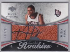 Hassan Adams 2006-07 UPPER DECK SWEET SHOT Autographed Rookie Card S/N'd 616/799