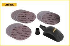 Mirka 150 mm Handblock Roundy Kit + 15 Schleibscheiben Abranet 150 mm