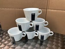 6 X Lavazza /Coffee/Americano/ Porcelain Cups Only