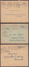 German Reich 1943 Wwii ☀ Vienna Feldpost / Wachkommando (guard) ☀ 3v used covers