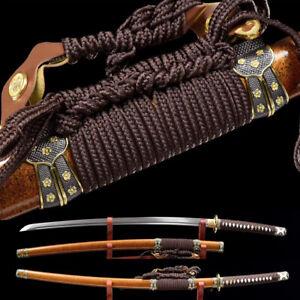 Traditional Handmade Tachi Damascus folded steel Combat Japanese samurai sword