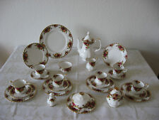 Royal Albert Old Country Rose  Kaffeegeschirr Butterdose Kuchenplatte Salzstreue