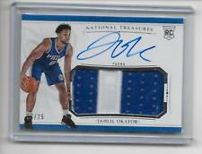2015-16 National Treasures Jahlil Okafor RC Auto/2-Color Nameplate Game Patch/25