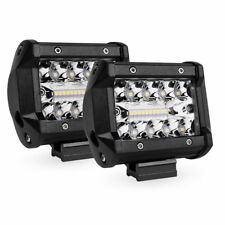 "4"" Triple Row LED Work Light Pods Spot Flood Led Lamp for OffRoad Truck 3000LM"