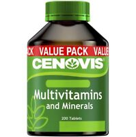 CENOVIS MULTIVITAMINS & MINERALS 200 TABLETS MULTIVITAMIN MEMORY ENERGY BONES