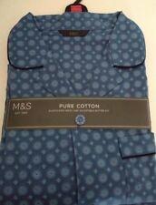 M&S XXL Men's Pure Cotton Geometric Print traditional Pyjamas  Full Length 47 49
