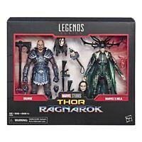 Marvel Legends 80th Anniversary Thor Ragnarok Skurge & Hela 2-Pack Set In Hand