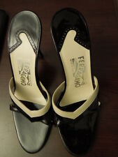 Authentic Salvatore Ferragamo leather high heels Sandals Size 37 US 6
