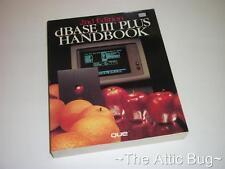 Dbase III Plus manuale ~ 2nd Edition ~ que ~ softback BOOK